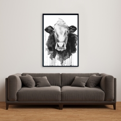 Framed 24 x 36 - Cow