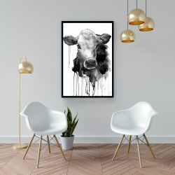 Framed 24 x 36 - Jersey cow