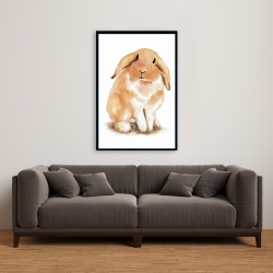 Framed 24 x 36 - Lop-rabbit