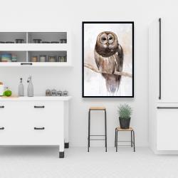 Framed 24 x 36 - Barred owl