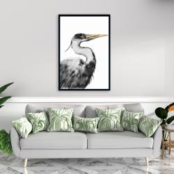 Framed 24 x 36 - Great heron