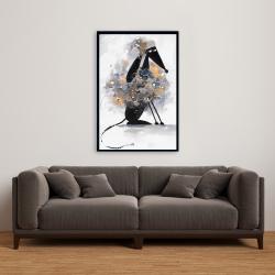 Framed 24 x 36 - Afghan hound dog in cartoon