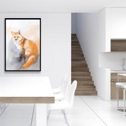 Framed 24 x 36 - Watercolor fox