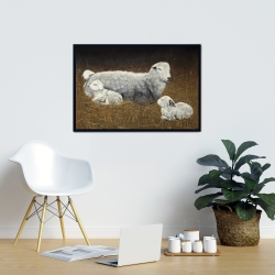 Framed 24 x 36 - Sheep and lambs