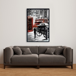 Framed 24 x 36 - European street