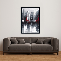 Framed 24 x 36 - Abstract cityscape