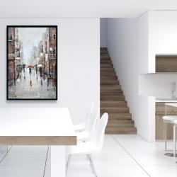 Framed 24 x 36 - City rain