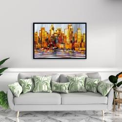 Framed 24 x 36 - Orange buildings