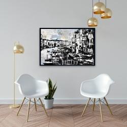 Framed 24 x 36 - Abstract venise port