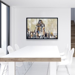 Framed 24 x 36 - Abstract château frontenac