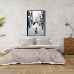 Framed 24 x 36 - Kiss of times square