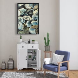 Framed 24 x 36 - Oyster shells