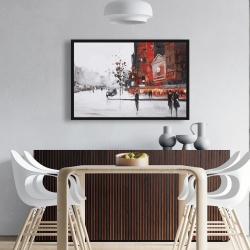 Framed 24 x 36 - Classic street scene