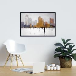 Framed 24 x 36 - City on the horizon