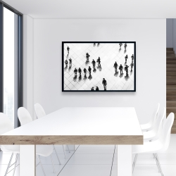 Framed 24 x 36 - Overhead view of people on the street