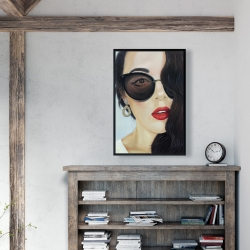 Framed 24 x 36 - Fashionable sunglasses