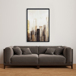 Framed 24 x 36 - Earthy tones city