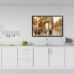 Framed 24 x 36 - Arc de triomphe in autumn