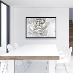 Framed 24 x 36 - Delicate white chrysanthemum