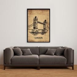 Framed 24 x 36 - Tower bridge illustration