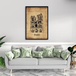 Framed 24 x 36 - Notre-dame de paris illustration