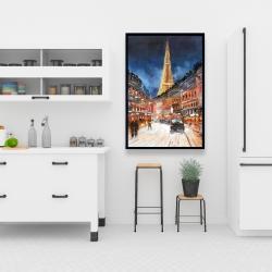 Framed 24 x 36 - Illuminated paris