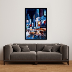 Framed 24 x 36 - Times square perspective