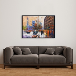Framed 24 x 36 - City by fall