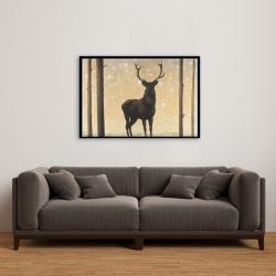 Framed 24 x 36 - Roe deer in winter