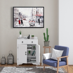 Framed 24 x 36 - Peaceful street scene