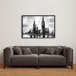 Framed 24 x 36 - Mono urban cityscape