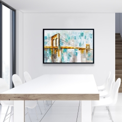Framed 24 x 36 - Brooklyn bridge