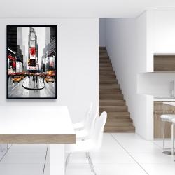 Framed 24 x 36 - New york city busy street