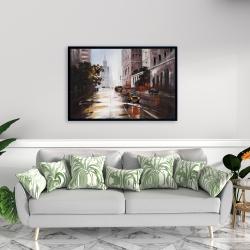 Framed 24 x 36 - Morning street scene