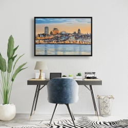 Framed 24 x 36 - Skyline of quebec city