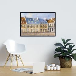 Framed 24 x 36 - Old quebec city