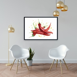 Framed 24 x 36 - Red hot peppers