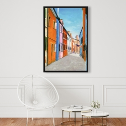 Framed 24 x 36 - Colorful houses in italy