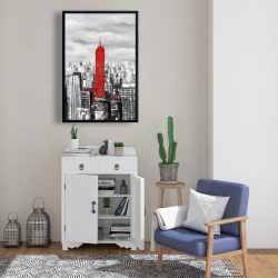 Framed 24 x 36 - Empire state building of new york
