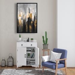 Framed 24 x 36 - Abstract skyline