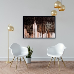 Framed 24 x 36 - The empire city of newyork
