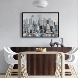 Framed 24 x 36 - Abstract urban skyline