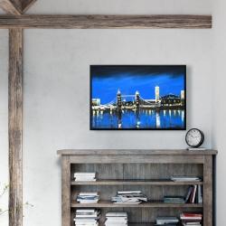 Framed 24 x 36 - Blue skyline of london