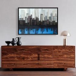 Framed 24 x 36 - Blue city