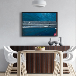 Framed 24 x 36 - Overhead view of traffic on the golden gate