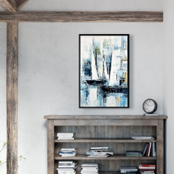 Framed 24 x 36 - Industrial style boats