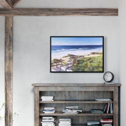 Framed 24 x 36 - Walk to the beach