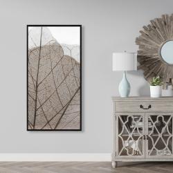 Framed 24 x 48 - Translucent dried leaves