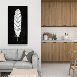 Framed 24 x 48 - Feather with patterns