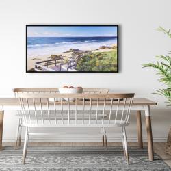 Framed 24 x 48 - Walk to the beach